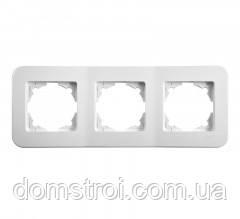 Тройная горизонтальная рамка VIKO Rollina белый