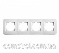 Четверная горизонтальная рамка VIKO Rollina белый
