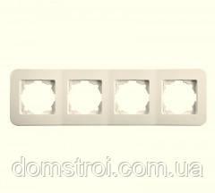 Четверная горизонтальная рамка VIKO Rollina крем