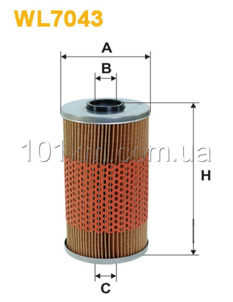 Фильтр масляный WIX WL7043 (OM523/1)