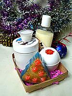 Набор косметики ( кокосовая маска для волос, бальзам-кондиционер, крем для лица, глицериновое мыло)