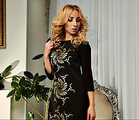 Платье большого размера Кармен  чёрного цвет  новинка стильное, модное для полных размеров  42-44