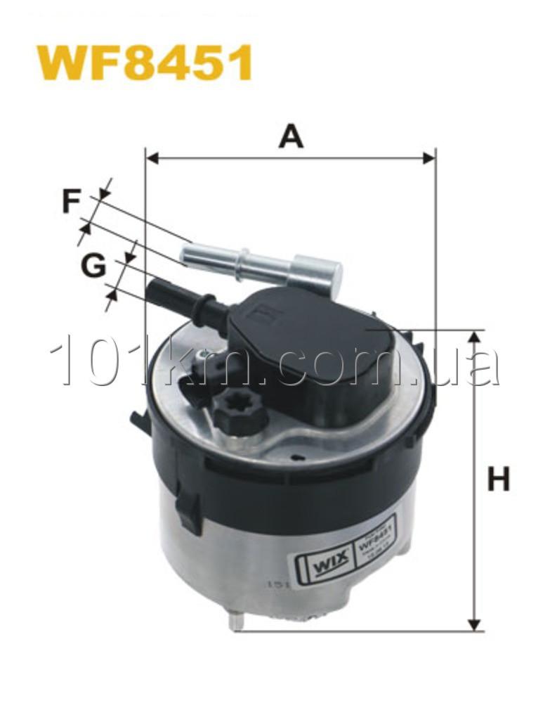 Фильтр топливный WIX WF8451 (PP838/8)