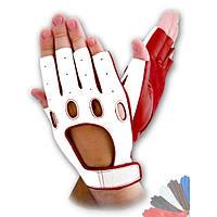 Авто перчатка из натуральной кожи без подкладки модель 314
