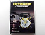 Ліхтар-прожектор кемпінговий акумуляторний COB W815 (5 W), 4 режими світіння, PowerBank, USB зарядка, фото 6