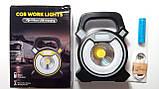 Ліхтар-прожектор кемпінговий акумуляторний COB W815 (5 W), 4 режими світіння, PowerBank, USB зарядка, фото 3