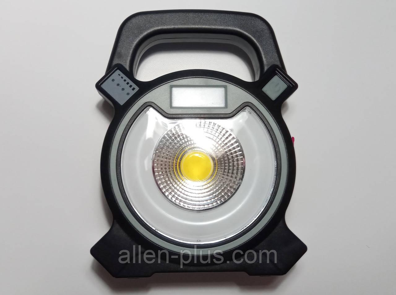 Ліхтар-прожектор кемпінговий акумуляторний COB W815 (5 W), 4 режими світіння, PowerBank, USB зарядка