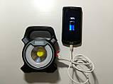 Ліхтар-прожектор кемпінговий акумуляторний COB W815 (5 W), 4 режими світіння, PowerBank, USB зарядка, фото 5