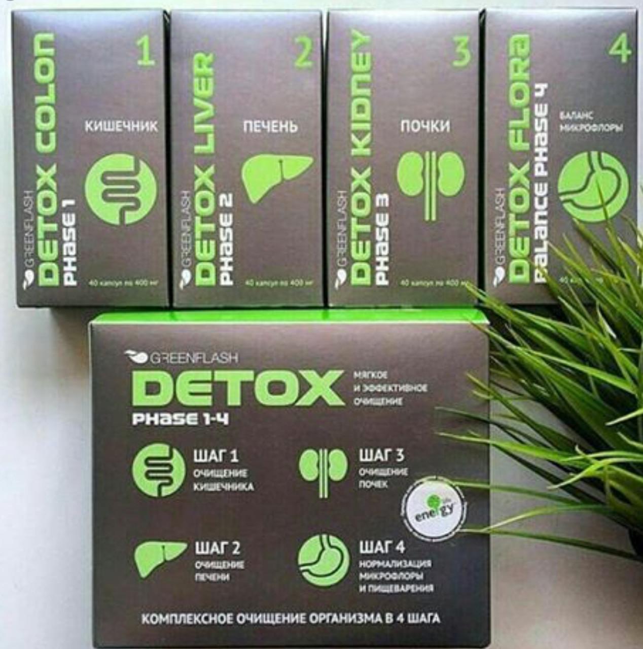 DETOX Программа комплексного  очищения организма детокс 4 шага удаление токсинов шлаков для процесса похудения