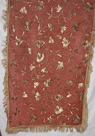 Глория терракот покрывала (дивандеки) гобеленовые на большую кровать, фото 2