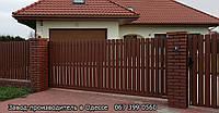 Забор из металлического штакетника, фото 1
