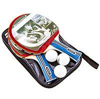 Набор для настольного тенниса Donic (2 ракетки и 3 шарика в чехле)