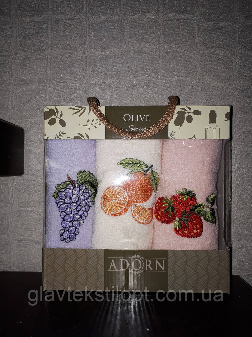 Подарочный набор полотенец 30*50 Adorn Турция