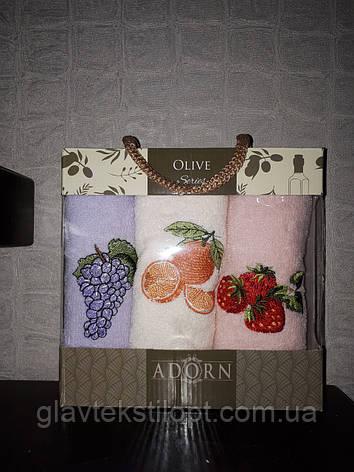 Подарочный набор полотенец 30*50 Adorn Турция, фото 2