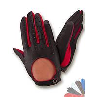 Авто перчатка из натуральной кожи без подкладки 122