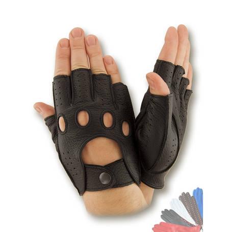 Авто перчатка из натуральной кожи без подкладки 245, фото 2