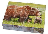 """Деревянные развивающие кубики """"Лесные животные"""""""