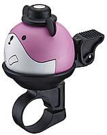 Звонок велосипедный NUVO NH-B437AP Pokemonos хомут 22.2 мм рожевий