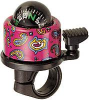 Звонок велосипедный VK NH-B406APC-T2 Compass-T2 хомут 22.2-25.4 мм кольоровий (NH-B406APC-T2)