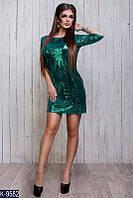 Женское платье с пайетками (ботал)