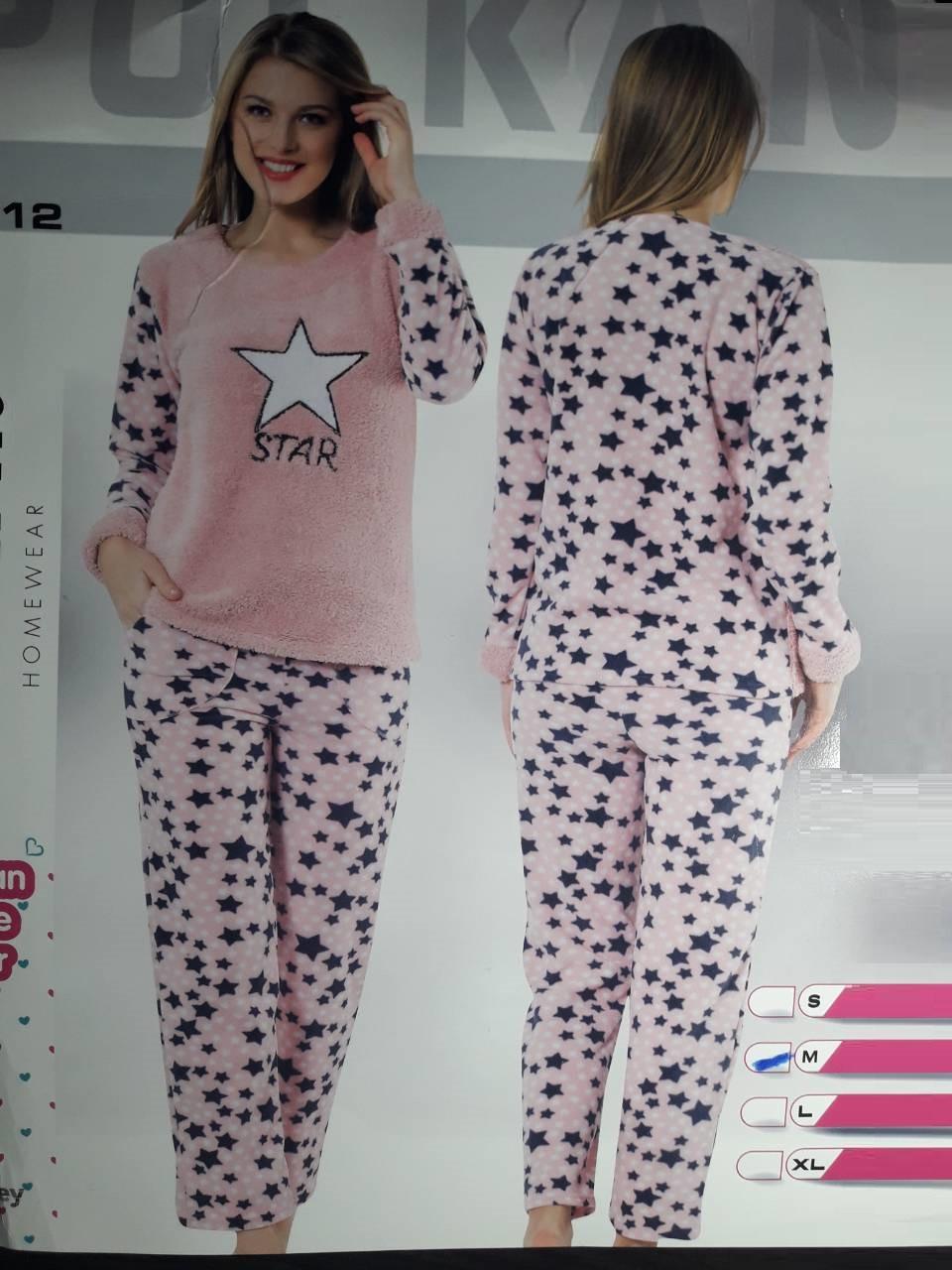 3b83eb2724e3f Тёплая женская махровая пижама Турция LA-17512 — купить недорого в ...