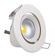 Светильник светодиодный Biom DL-7W-R-COB 7Вт круглый 6000K белый