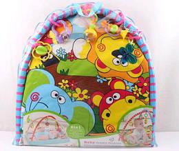 Коврик для малышей 818-2B с погремушками, в сумке90*84*64cm( Ч )