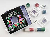 Настольная игра Покер, фишки, карты-2 колоды MMT-3896A