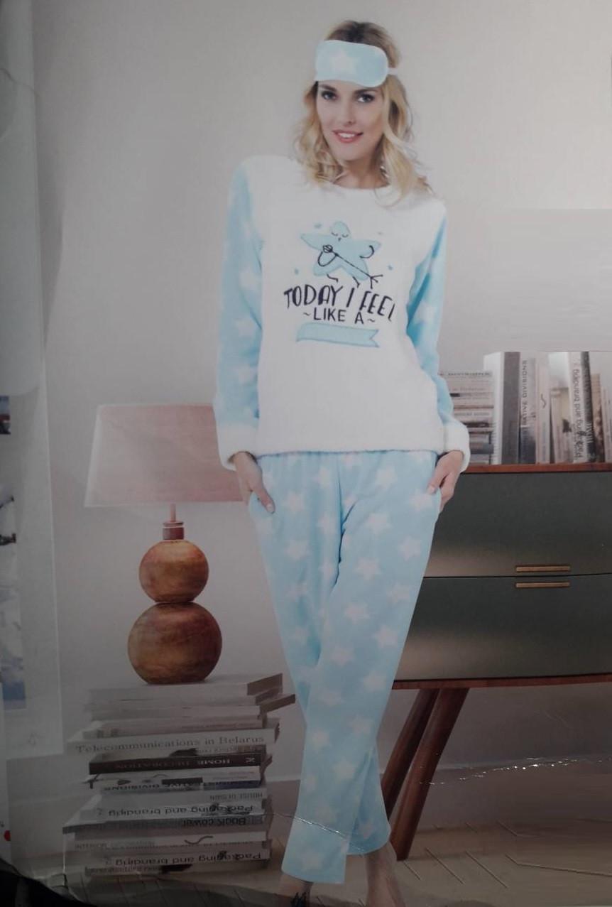 Женская махровая пижама Турция LA-4335 48 - Интернет-магазин