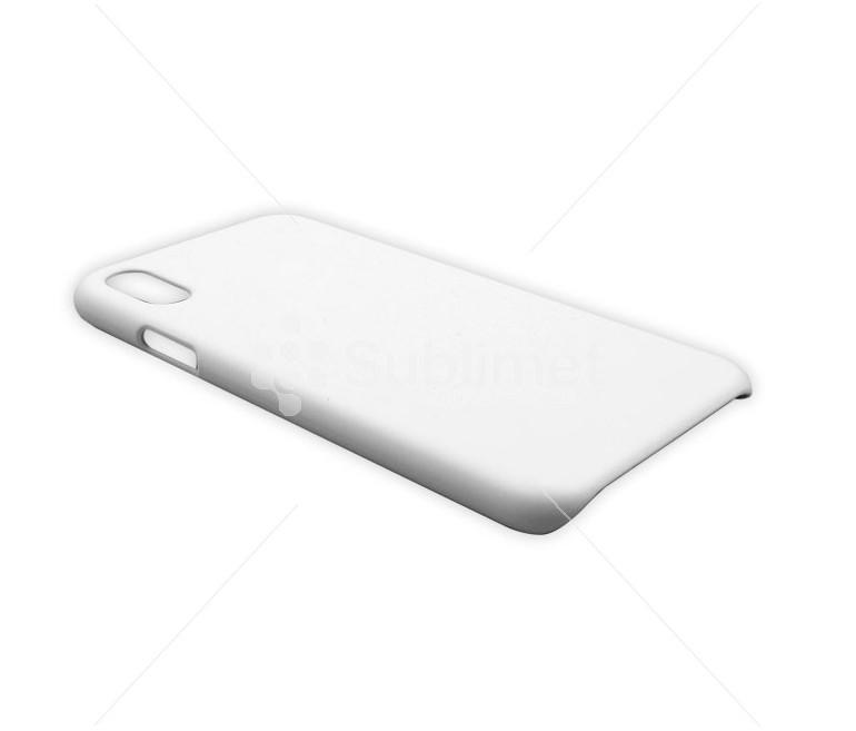 Чехол 3D iPhone X пластиковый белый (матовый)
