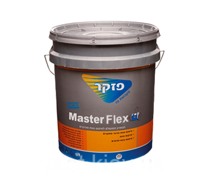 Битумно-полимерная гидроизоляционная паста на водной основе Master Flex 18 кг