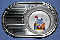 Мойка кухонная 770*500*180 Mira Premium сатин правая
