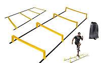 Координационная лестница дорожка с барьерами (р-р 2,15x0,5мх3,4мм)