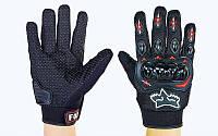 Мотоперчатки текстильные с закрытыми пальцами и протектором Fox