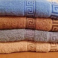 Большое банное махровое полотенце рисунок Версаче 70-140