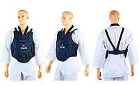 Защита корпуса (жилет) для единоборств подростковая ZEL (EVA, р-р XS-XL,черный)