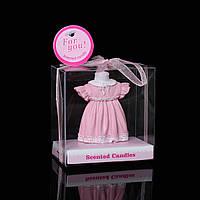 Свеча, Платье ,Розовый, Парафин, 50 мм x 40 мм, 40 мм диаметр