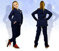 Детский спортивный костюм с удлиненной кофтой и зауженными штанами