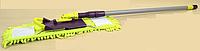 Плоская швабра с насадкой из микрофибры и пластиковой телескопической ручкой 40x14,5-120 см Valsar