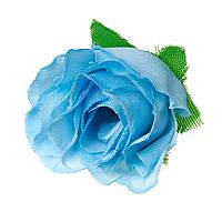 Предмет для декора, Флористики, Цветок, Роза, Синий, 4 cm x 3.3 cm - 3 cm x 2.5 cm