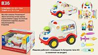 Игрушечная машина скорой помощи 836, набор доктора, скорая помощ, маленький врач