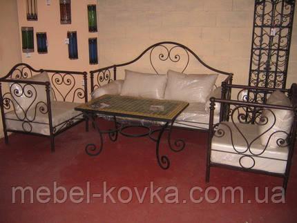Кованый диван 6( подушки просчитывать отдельно(