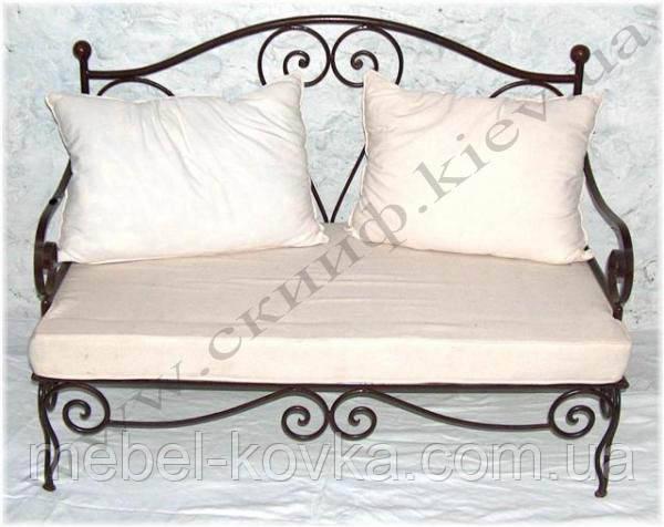 Кованый диван 10( подушки просчитыв.отдельно)