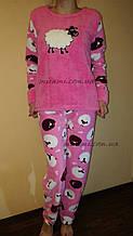 Мягкая женская пижама флис и махра
