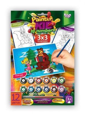 """Раскраска по номерам Painter kids """"Маша и Медведь"""" PKN-01-03"""