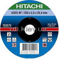 Круг отрезной Hitachi 350 x 2,6 x 25,4 мм по металлу ( 752572 )