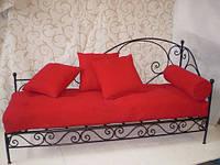 Железный диван  в гостинную 19(секционные подушки просчитывать отдельно)