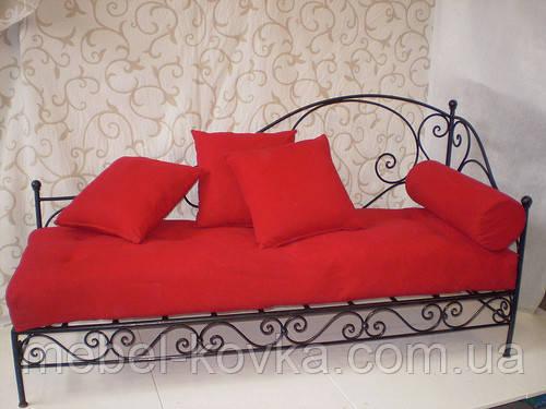 Залізний диван у вітальню 19(секційні подушки прораховувати окремо)