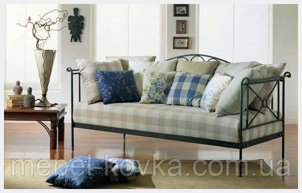 Металлический диван 20 (секционные  подушки просчитывать отдельно)