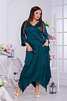 Атласная женская блузка Orina с яркой вышивкой и манжетами на рукавах (4 цвета) (150)7001